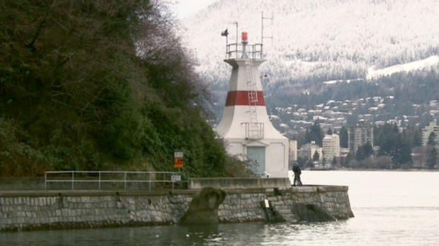 The lighthouse at Prospect Point in Vancouver's Stanley Park is one of many in danger of disappearing off the map.