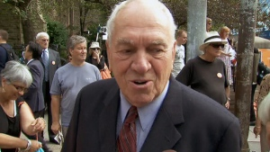 Former NDP Leader Ed Broadbent, shown in this undated photo, questioned NDP leadership candidate Thomas Mulcair's suitability as leader of the party in media interviews on Thursday, March 15, 2012.