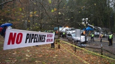 Kinder Morgan contractors prepare to drill