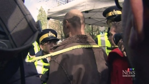 CTV Vancouver: Protesters cross police lines
