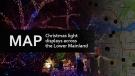 Map: Christmas light