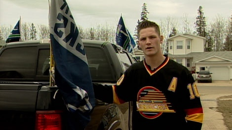 Chris Barber says he was unfairly targeted by a Mountie in Fort MacMurrary, Alta., for being a Canucks fan. April 13, 2012. (CTV)