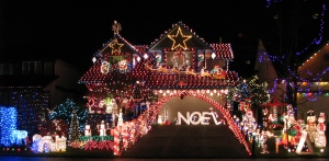 16956 60A Avenue, Cloverdale. Kinna Family Light Display on till Jan 4th. Sunday to Thursday 5 to 10pm or later.  Friday/Saturday 5 to 11pm or later.