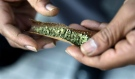 A man rolls a marijuana cigarette in Trenton, N.J. on Saturday, March 21, 2015. (AP / Mel Evans)