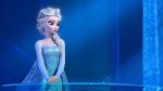 """This image provided by Disney shows a teenage Elsa the Snow Queen, voiced by Idina Menzel, in a scene from the animated feature """"Frozen."""" (AP / Disney)"""