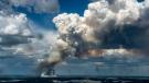 Smoke from a fire near LaRonge, Saskatchewan.  Photo: Ministry of Environment