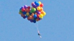 Calgary Stampede Balloon stunt