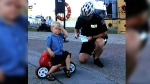 Three-year-old gets his first parking ticket