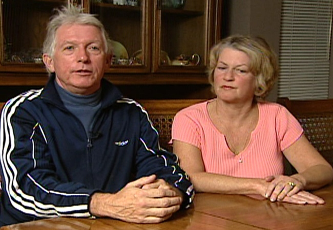 Diane and Ken Johnston discuss the latest possible development in the missing foot case. Nov. 11, 2008.