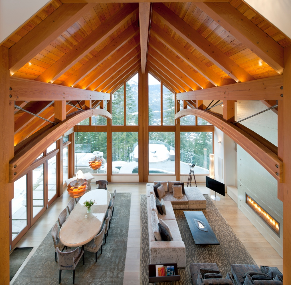 timber frame home interiors luxurious whistler escape 10m mountain estate up for 22337