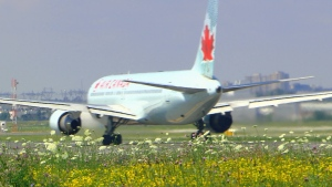 Air Canada jet gets ready for take-off