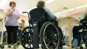 Nova Scotia's Workers' Compensation Board has found that 40 nursing home workers were injured by residents last year, compared to 28 in 2014. (The Canadian Press/file photo)