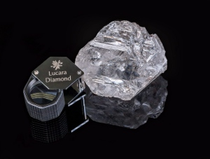 An 1,111-carat diamond is shown in this undated handout photo. (Lucara Diamond Corp., Lucian Coman/THE CANADIAN PRESS)