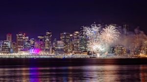 Thousands of Vancouverites celebrated the start of 2016 with fireworks and festivities at Canada Place. (Photos by Steve McConnell and Jenn Chan).
