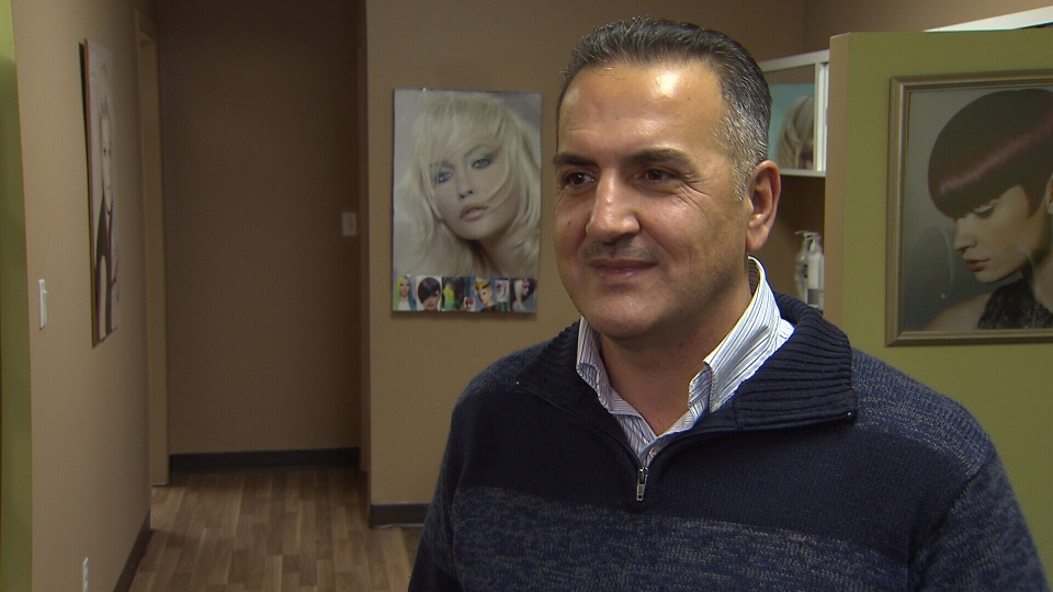 Kurdi, who recently arrived in Canada as a refugee, joined his younger sister Tima Kurdi for the grand opening of their new hair salon in Coquitlam on Saturday. (CTV)