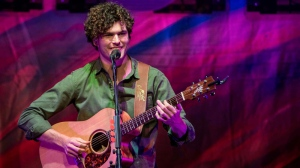 Vance Joy kicked off his North American 'Fire and the Flood' Tour with the first of two concerts at the Orpheum Theatre in Vancouver on Jan. 12, 2016. (CTV/Anil Sharma)