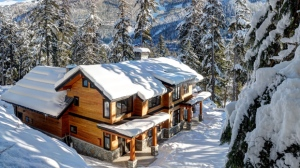 This 1.65 acre Whistler, B.C. estate is located in a private community with stunning views of the mountains and Alpha Lake. Completed in 2015, the four-bedroom, 4.5-bathroom, 5,150 square-foot home is fully furnished and features a wine cellar, home theatre, chef's kitchen, and 'energy efficient innovations'. Interested? This luxury estate could be yours for $5.15 million. (John Ryan | Whistler Real Estate Company).