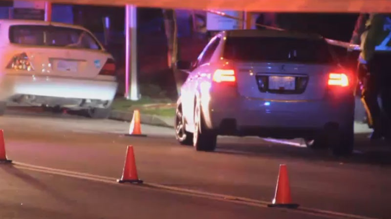 A four-year-old girl and her six-year-old brother were crossing the road with their mom and dad when they were struck in a marked Surrey crosswalk. (CTV)