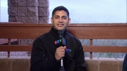 Matias Laba helps the CTV Sports Deapartment