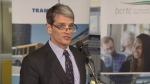 Kevin Desmond, the new CEO of TransLink, speaks at a press conference on Feb. 10, 2016. (CTV)