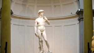Michelangelo's David statue is seen in Florence, Italy, on Friday, Jan. 23, 2015. (AP Photo / Antonio Calanni)
