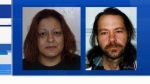 Violet Edna Miharija and David Fomradas both escaped from the Forensic Psychiatric Hospital in Coquitlam this week. Feb. 13, 2016. (CTV News).