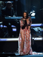 Rihanna performs 'Say You Say Me' at the MusiCares Person of the Year tribute honoring Lionel Richie at the Los Angeles Convention Center on Saturday, Feb. 13, 2016. (Chris Pizzello/Invision/AP)