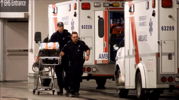 One of the men had sustained life-threatening injuries and was transported by ambulance to Royal Columbian Hospital. (CTV)