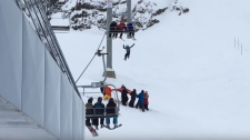 Chairlift rescue