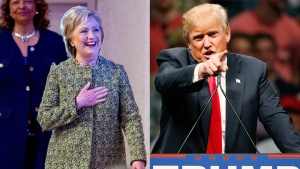 In this composite image, Democratic presidential candidate Hillary Clinton and Republican presidential candidate Donald Trump are pictured. (Photos from AP)