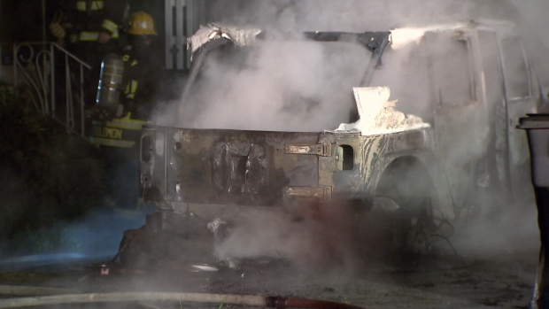 Surrey car fire
