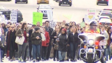 hundreds march against Ghomeshi verdict