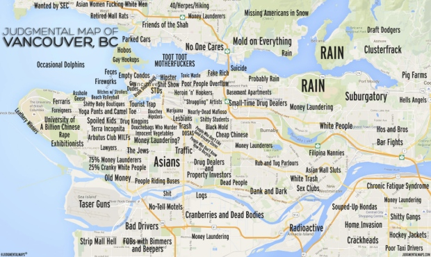 Yoga Cults Cougars Gangland Judgmental Map Of Vancouver Stirs