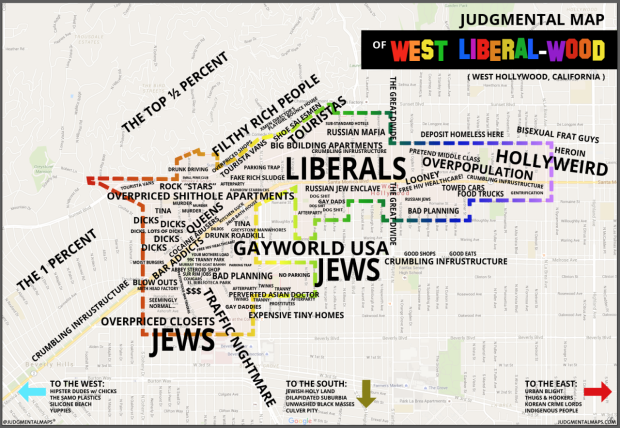 West Hollywood map
