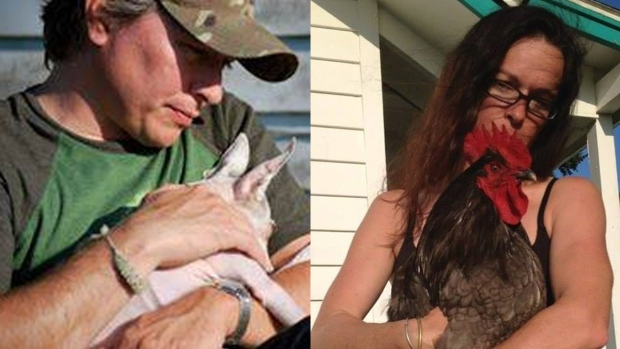Patrick Shunn and his wife, Monique Patenaude, are shown in these images from Facebook.