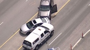 Vancouver police have arrested a robbery suspect near 1st Avenue and Quebec street. April 27, 2016. (CTV/Chopper 9)