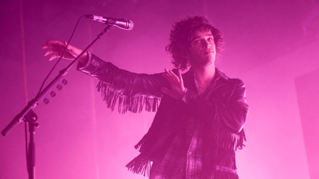 Breakthrough British pop-rock quartet The 1975 play the Doug Mitchell Thurderbird Sports Arena at UBC, with special guests Wolf Alice. April 27, 2016. (Anil Sharma/CTV)