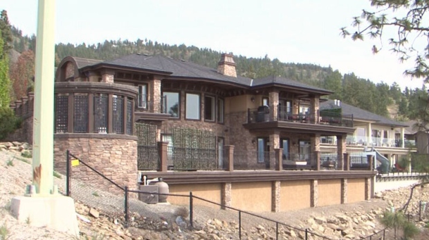 A mansion on Pinot Noir Drive in Kelowna is eligible for a bigger tax break than bungalows in Metro Vancouver, according to Burnaby city councillor Colleen Jordan. April 28, 2016. (CTV)