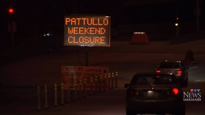 Pattullo Bridge closing for weekend