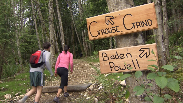 The 2.9-kilometre, 2,830 step Grouse Grind officially opened at 6:15 a.m. on Saturday. (CTV News).