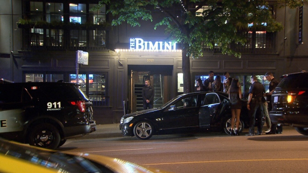 Two men were rushed to hospital with knife wounds Friday night after an argument outside a Kitsilano bar turned violent. April 29, 2016. (CTV News).