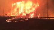 MyNews: Intense flames on Highway 63