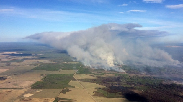 B.C.'s Siphon Creek wildfire is seen in a photo provided by the B.C. Wildlife Service.