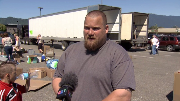 Chilliwack resident Gordon Vanlaerhoven is driving a big rig packed with donations to Alberta to help victims of the Fort McMurray fire. (CTV)