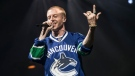 Seattle-born rapper Macklemore opened his world tour at Vancouver's PNE Forum on May 25, 2016, thrilling fans by wearing a Canucks jersey. (Anil Sharma Photographer).