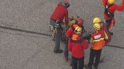 North Shore Rescue crews reached a lone hiker stranded on a rock face near St. Mark's Summit in North Vancouver.