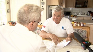 Dieter Hoefner says he was hit with extra fees on his Port Mann bill, even though he paid on time. (CTV)