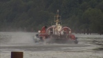 A hovercraft was brought in to the Fraser River after a possible Jet Ski accident on May 31, 2016. (CTV)