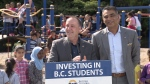 The provincial government is returning $25 million in administrative savings back into services for B.C. students. (CTV)