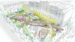 The final design plan for a new park at Smithe and Richards was approved by the Park Board. (Photo: Vancouver Park Board)
